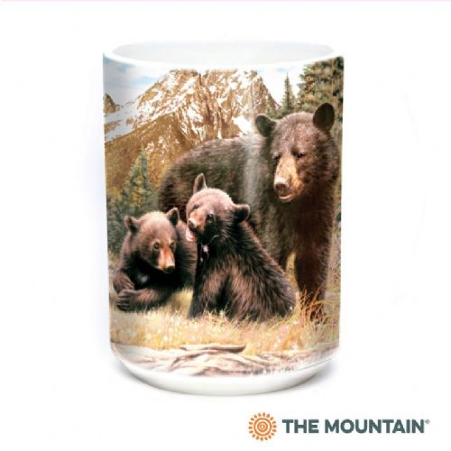 Black Bear Family Ceramic Mug | The Mountain®